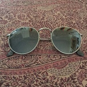 Ray Ban gunmetal round sunglasses